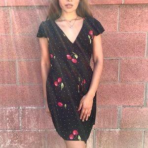 Cherry Baby Wrap Dress